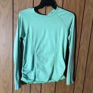 Athleta - Long Sleeve Green Workout Top